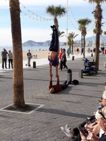 Street acrobats near Tiki Beach