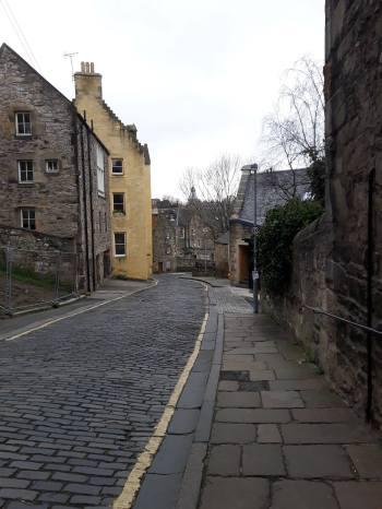Bells Brae looking towards Dean Village
